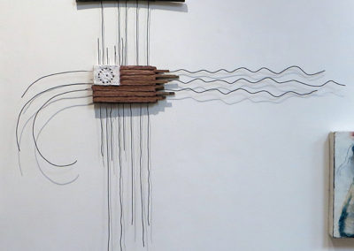 "Eric Beckerich  ""Brown Flag of America"" mortar, wood and wire, $500.00"