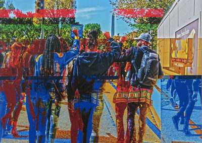 "Phillip McConnell   ""New Day, Same Message"" glitch art,  $150.00"