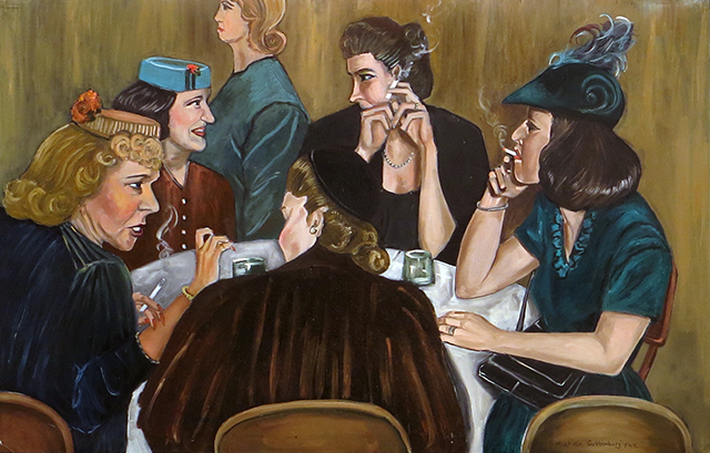 "Michele Guttenberg ""I Don't Want To Talk About It"" oil on board, $350.00"