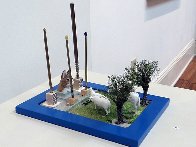 "Peter Arakawa  ""Animal Heaven"" mixed media sculpture,  $150.00"