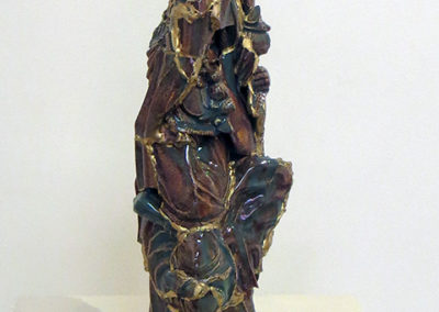 """Guarino"", ceramic, glaze and gold by Kelly Clark"