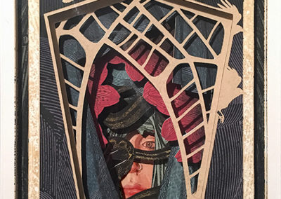 """Capture"",  hand cut paper sculpture by Alex Eckman-Lawn"