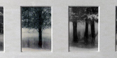 """Winter, Somerset, NJ"", oxidized gelatin silver prints by Patricia A. Bender"