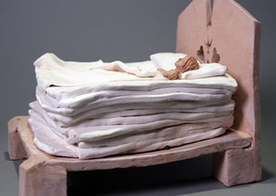 "Adrienne Hecker  – ""The Princess and the Pea"" ceramic"