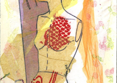 """Lisa Turngren  – """"On/Unmaking a Model #3 """" mixed media"""