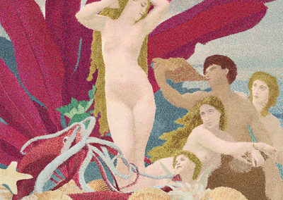 "Donna Faranda  – ""The Birth of Aphrodite"" micro pointillism in Corel Painter"