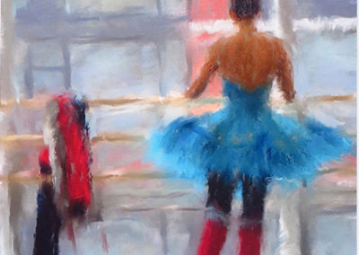 "Joseph Schembri  – ""At the Bar-1"" canvas gic"
