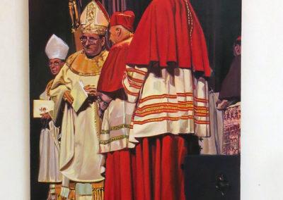 "Maria Mijares – ""Cardinal Whispers"" acrylic on linen"