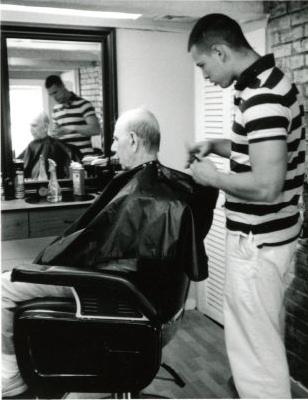 "Linda Kimler  –  ""Anthony's Haircut"" gelatin silver print"