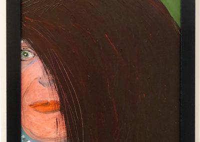 "Rita Herzfeld  – ""Bad Wig"" acrylic on canvas"