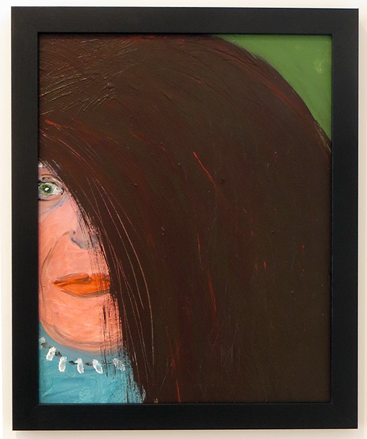 "Rita Herzfeld  – ""Bad Wig"" acrylic on canvas"