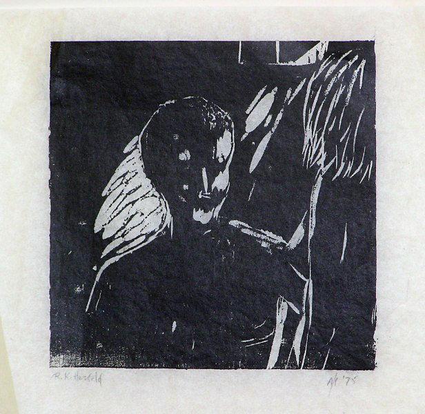 "Rita Herzfeld – ""Puberty"",  woodcut"