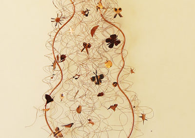 "Ellen Rebarber  – ""Dream Hair"" copper relief sculpture"