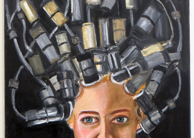 """Michele Guttenberg  – """"What Price Beauty?"""" oil on canvas"""