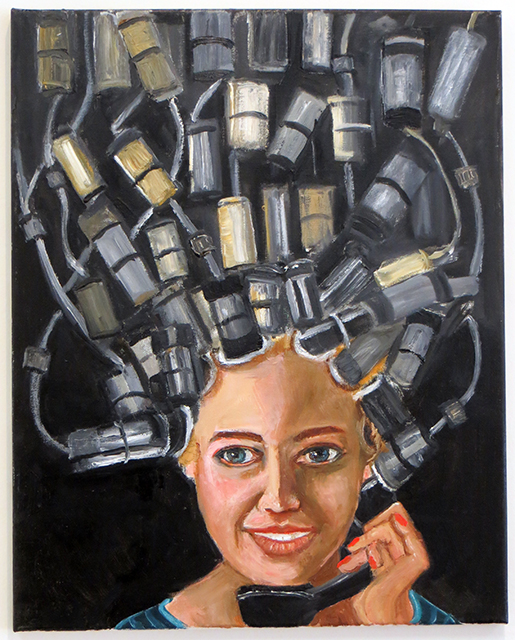 "Michele Guttenberg  – ""What Price Beauty?"" oil on canvas"