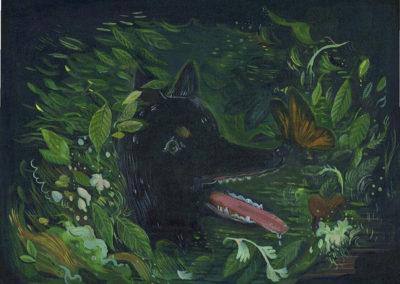 "Alexandra Wasserman's ""Vacant-Lot Social Club"" Acrylic on canvas"