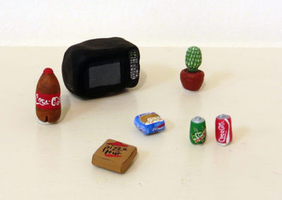 """Mackenzie L. McAlpin's – """"Dinner"""" Polymer clay and acrylic paint"""