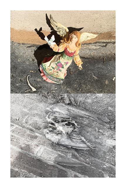 """Rose Drew's """"Sidewalk Angels""""  – Digital print"""