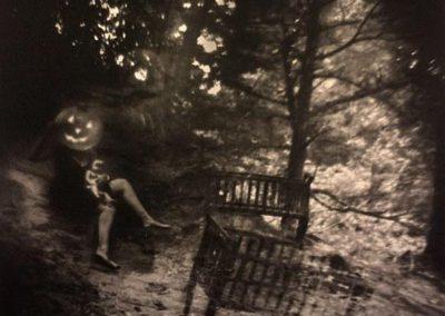 "SOLD – Stephanie Slate – ""Pumpkin Head"" Platinum/palladium print"