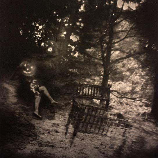 "SOLD – Stephanie Slate – ""Pumpkin Head"" Platinum/palladium print"
