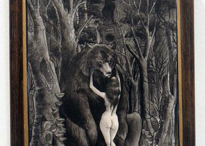 "Robert Kraiza's – ""Regrowth"" Ink and watercolor"