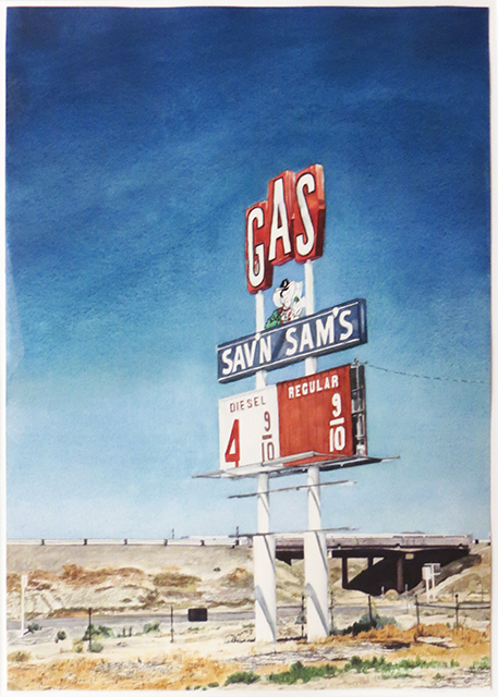 """Sav'n Sams""  – Watercolor on paper –  22"" W x 28 1/2"" H  – $2,500.00"