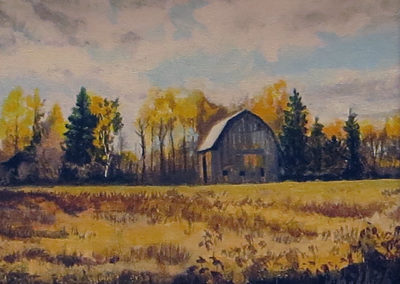 """Canadian Barn"" – Acrylic on canvas – 