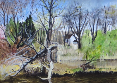 """Spruce Run Meets the South Branch""  – Acrylic on canvas panel – 