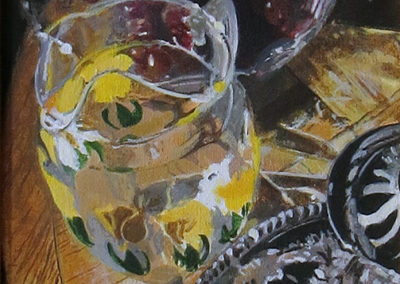 """Still Life with Pitcher"" Acrylic on canvas –  12"" w x 15"" H $350.00"