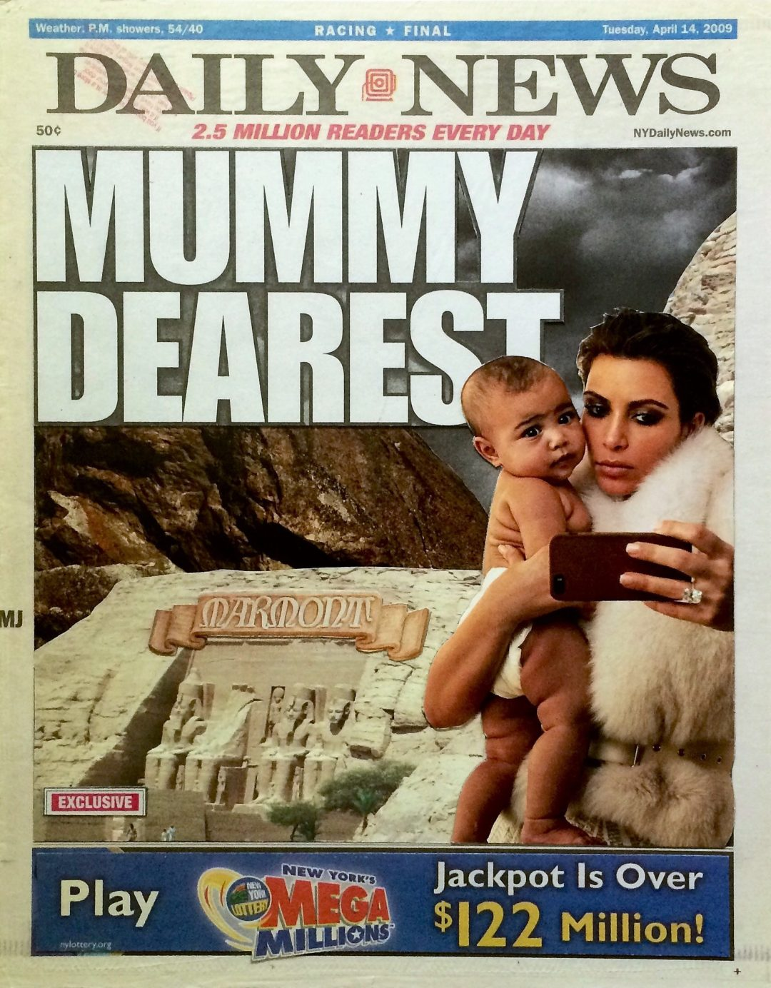 """Daily News/Mummy Dearest"" by Luis Alves Collage:  – $450.00"