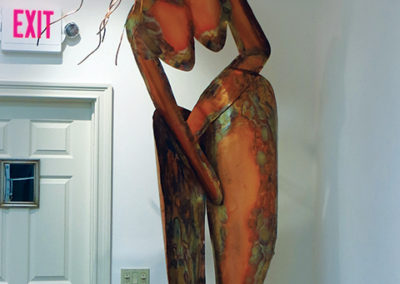 "Ellen Rebarber   ""I Am Woman"" Copper sculpture"