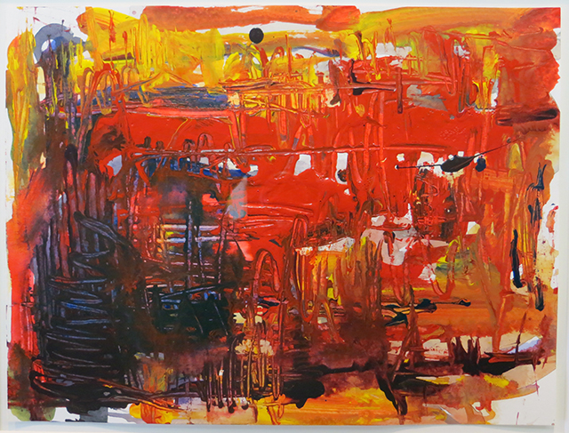 "Rita Herzfeld  ""Red Hot"" acrylic on paper"