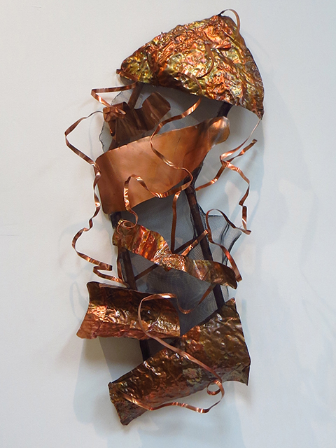 "Ellen Rebarber  ""Stormy Love""  Copper sculpture"
