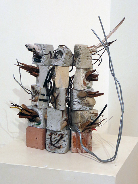 """Architectural Expression"" mortar and found objects,  by Eric Beckerich $1,200.00"