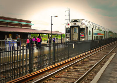 "Bill Bonner ""Bound Brook Station""  enhanced digital photograph SOLD"