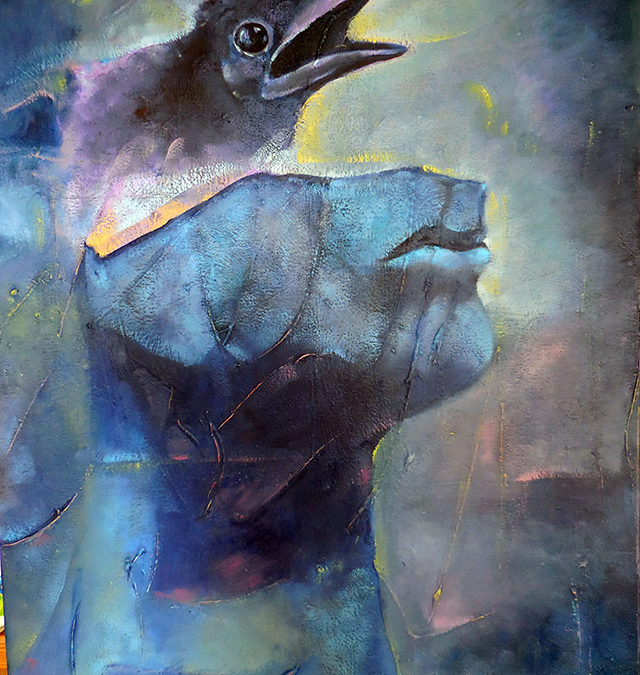 The Mystery of The Crow – oil on canvas $800.00
