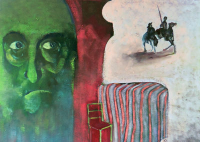 Variations on The Madness of Don Quixote two – oil on canvas – $1,000.00