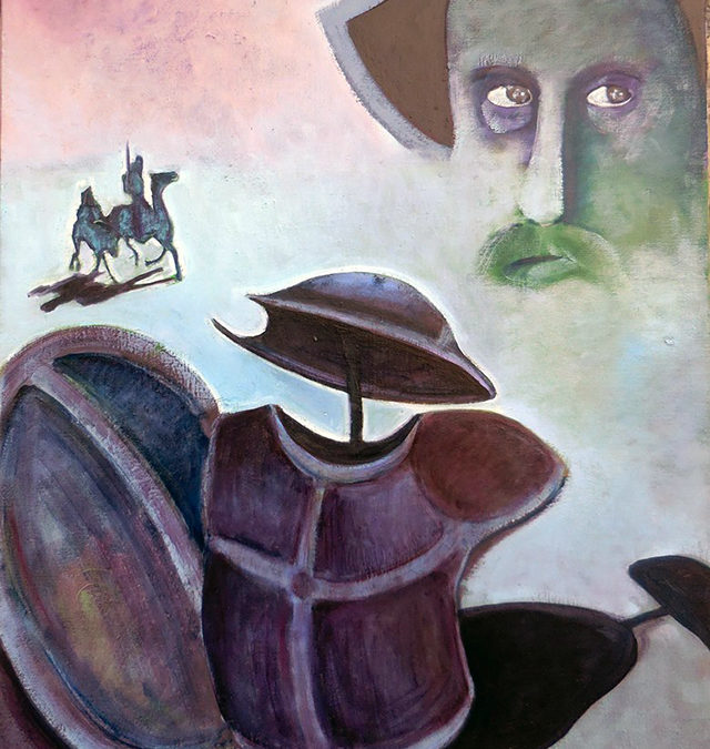 Variations on The Madness of Don Quixote – oil on canvas – $800.00