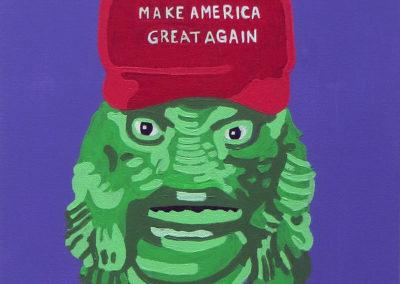 "Chris Ernst   ""Swamp Thing""  acrylic"