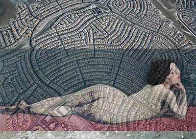"""Lisa Gordon Cameron """"Landscape"""" digital collage, $200.00"""