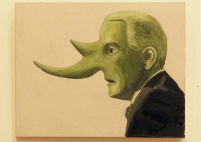"Larry McKim  ""Jeff Sessions""  acrylic on canvas"