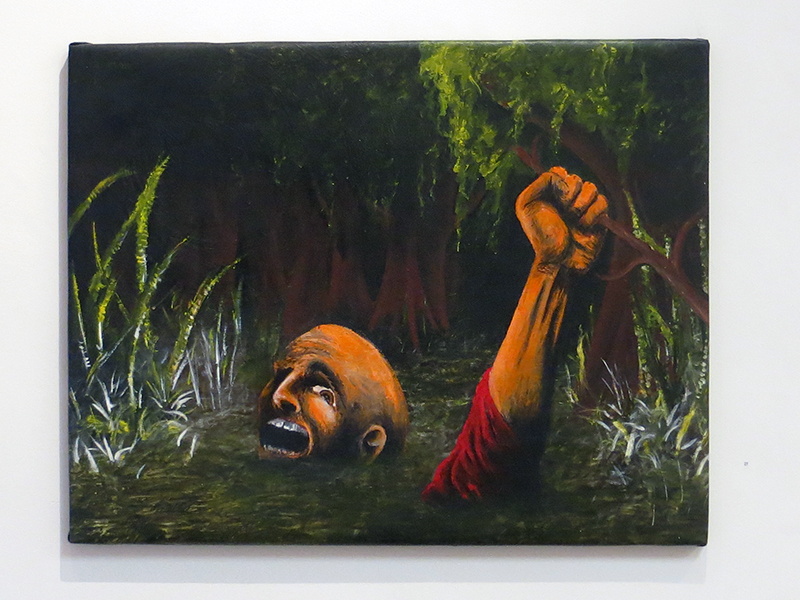"Neil Besignano ""This Swamp Is Killing Me"" oil on canvas"