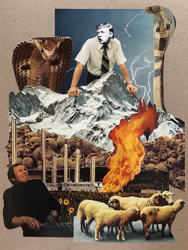 "Brad Terhune ""I Alone Can Fix It"" collage"