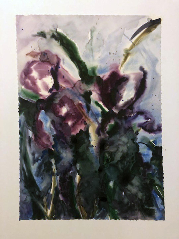"""Jana Ortiz """"Dancing Darkly""""  watercolor"""