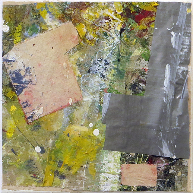 """""""Control"""" mixed media abstract collage 12"""" x 12"""", $150.00"""