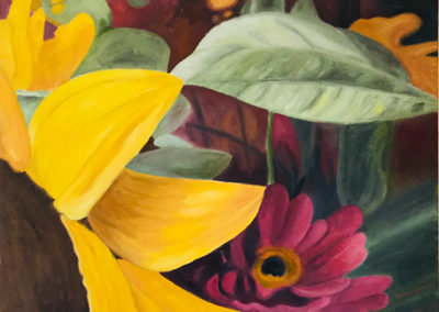 """Elizabeth's Saturday Bouquet # 1"" oil on canvas, 24""H x 30"" W, $2,000.00"