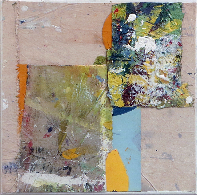 """First World"" mixed media abstract collage 12"" x 12"", $150.00"