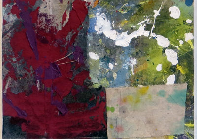 """General Glance""  mixed media abstract collage 12"" x 12"", $150.00"