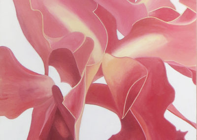 """Orchid #3""  oil on canvas,  42"" H x 32"" W, $2,000.00"