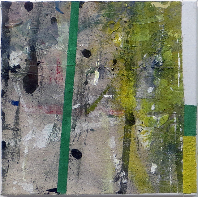 """""""The Last Mistake""""  mixed media abstract collage 12"""" x 12"""", $150.00"""